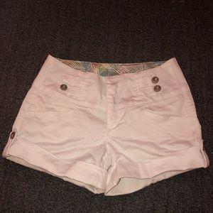 Pants - White mid rise shorts never worn